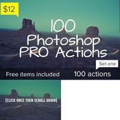 Creativemarket 100 Photoshop Pro Actions Set 1 113297 icon