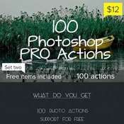 Creativemarket 100 Photoshop Pro Actions Set 2 126346 icon icon