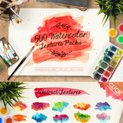 Creativemarket 500 Watercolor Textures Packs 110266