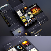 Creativemarket Android music App Material design 139303 icon