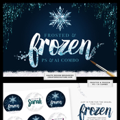 Creativemarket Frosted Frozen Icy Winter Kit Ps Ai 138356 icon