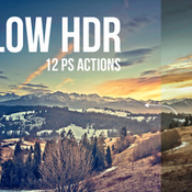 Creativemarket Glow HDR 12 PS Actions 142009 icon