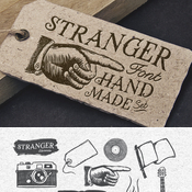 Creativemarket Stranger Font Pack and Vector Graphics 59241 icon