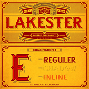 Lakester Font Family 4 Fonts icon