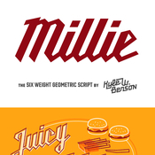 Millie Fonts Family 12 Fonts icon