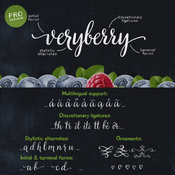 Veryberry Script Font icon