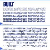 Built font family 10 fonts for 240 icon