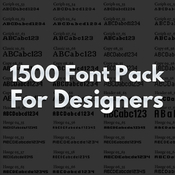 1500 with Font Pack for Designers icon