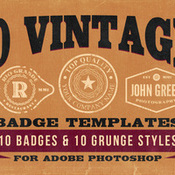 Creativemarket 10 Vintage Badge Templates 35031 icon