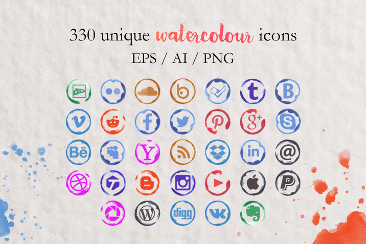 Creativemarket_330_Watercolor_Social_media_icons_227140_cap02