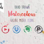 Creativemarket 330 Watercolor Social media icons 227140 icon