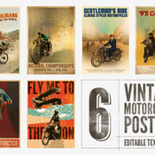 Creativemarket 6 posters with editable text 228098 icon