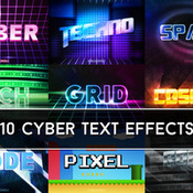 Creativemarket Cyber Text Effects 215120 icon