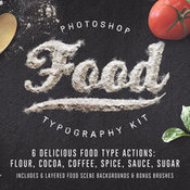 Creativemarket Food Typography PSD Actions 154709 icon