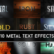 Creativemarket Metallic Text Effects 221298 icon