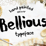 Creativemarket Bellious hand drawn typeface 285776 icon