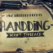 Creativemarket Handding Typeface 50percent Intro Offer 281534 icon