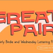 Creativemarket Whirly Birdie and Wednesday Lettering 296558 icon