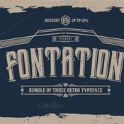 Creativemarket FONTATION Bundle of 3 Retro Typeface 299044 icon