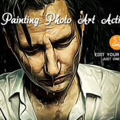Creativemarket oil painting photo art action 358426 icon