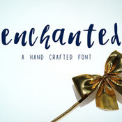 Enchanted a brush script font 432007 icon