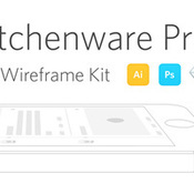 Neway lau kitchenware pro 13 ios wireframe kit ai psd sketch icon