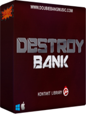 Double bang music destroy bank box icon