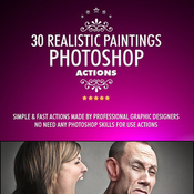 30 realistic paintings photoshop actions 12208882 icon