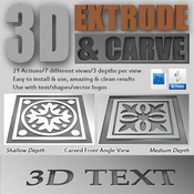 3d extrude carve actions 11739721 icon