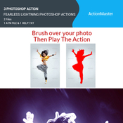 Fearless lightning photoshop actions 11091904 icon