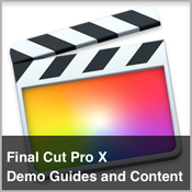 Final cut pro x demo guides and content logo icon