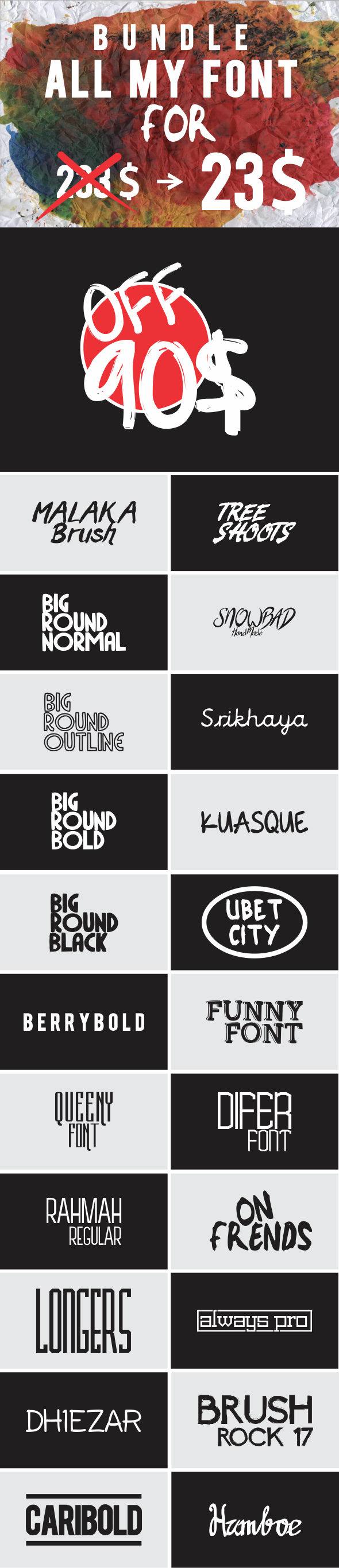 BUNDLE ALL MY FONT