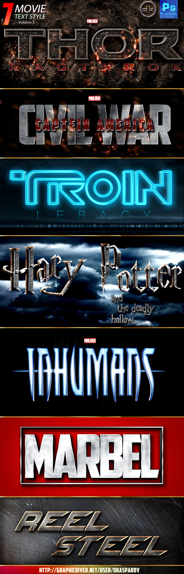 Movie Text Style Vol.5