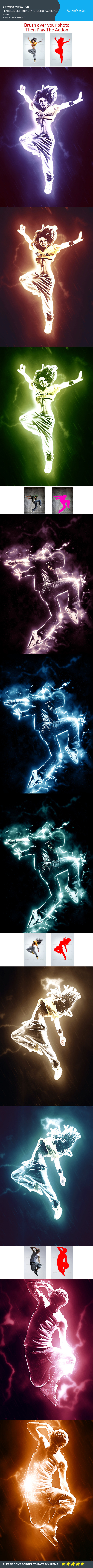 Fearless Lightning Photoshop Actions