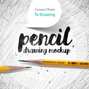 Pencil drawing mockup photo to sketch converter 11790083 icon