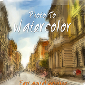 Photo to watercolor painting 10870034 icon