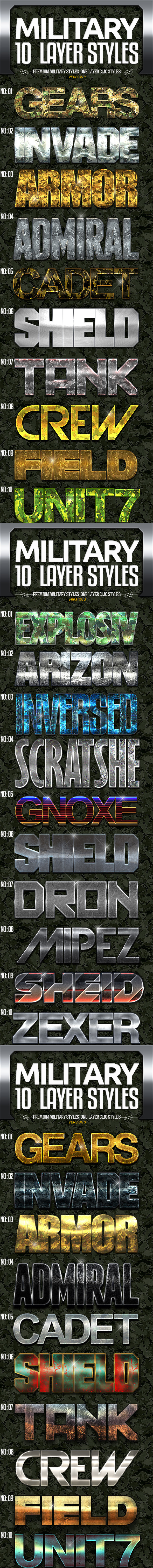 Military Text Effects Bundle
