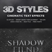 3d cinematic text effects vol1 11031893 icon