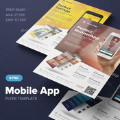 Mobile app flyer template 12649951 icon