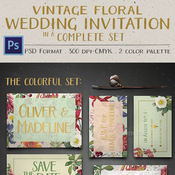 Vintage floral wedding invitation 12116686 icon