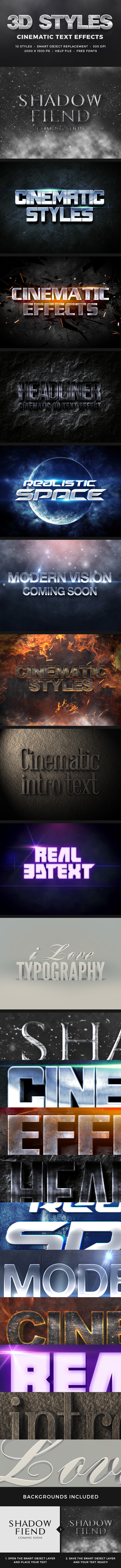 3D Cinematic Text Effects Vol.1