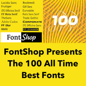 Fontshop presents the 100 all time best fonts icon