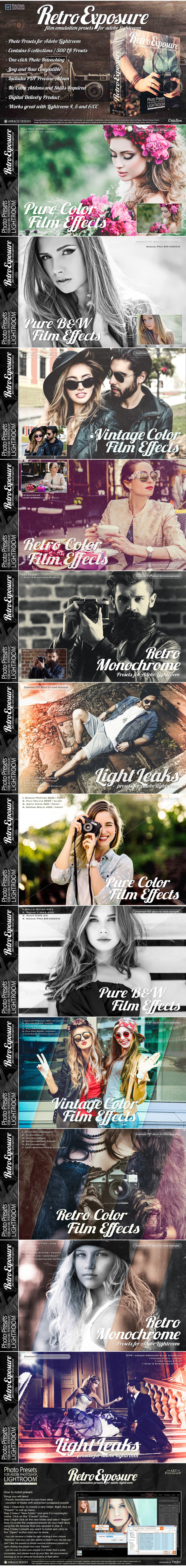 CreativeMarket – Retro Exposure Lightroom Presets 735149