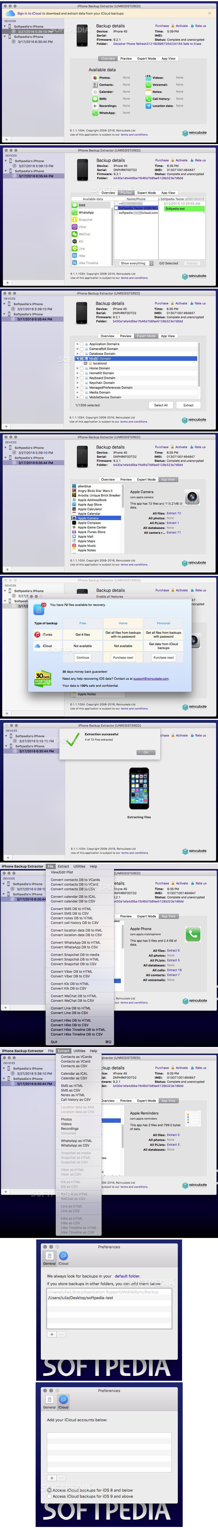 iPhone Backup Extractor 7 4 1 1469 Free Download | Mac